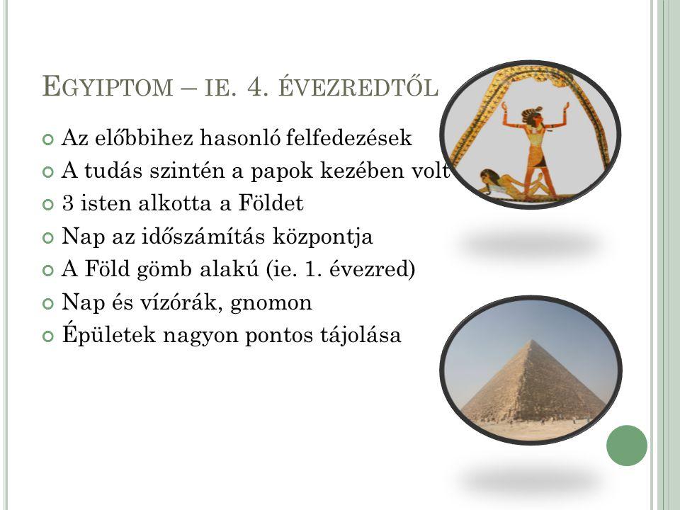 Egyiptom – ie. 4. évezredtől