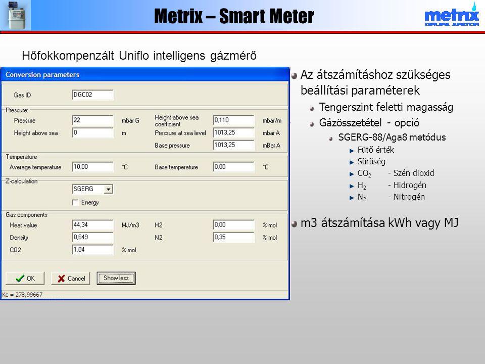 Metrix – Smart Meter Hőfokkompenzált Uniflo intelligens gázmérő