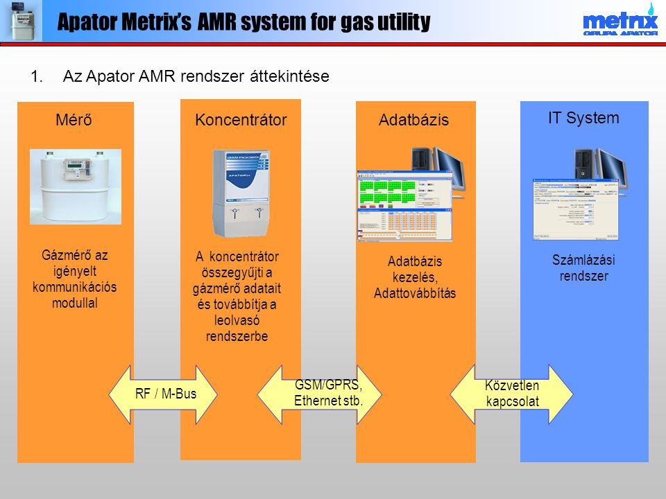 Apator Metrix's AMR system for gas utility