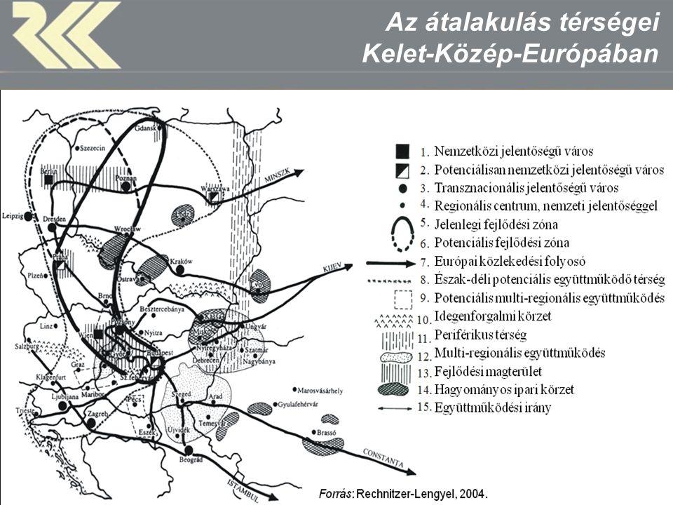 Az átalakulás térségei Kelet-Közép-Európában