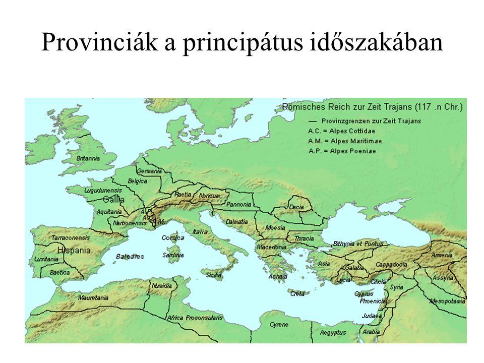 Provinciák a principátus időszakában