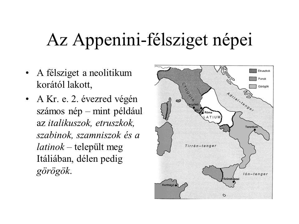 Az Appenini-félsziget népei