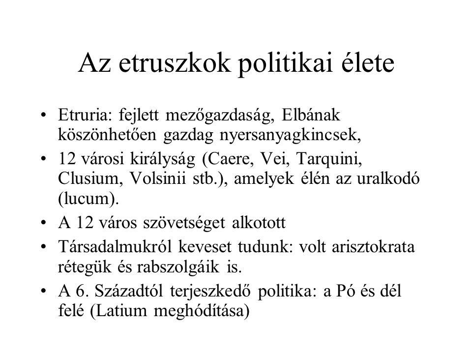 Az etruszkok politikai élete