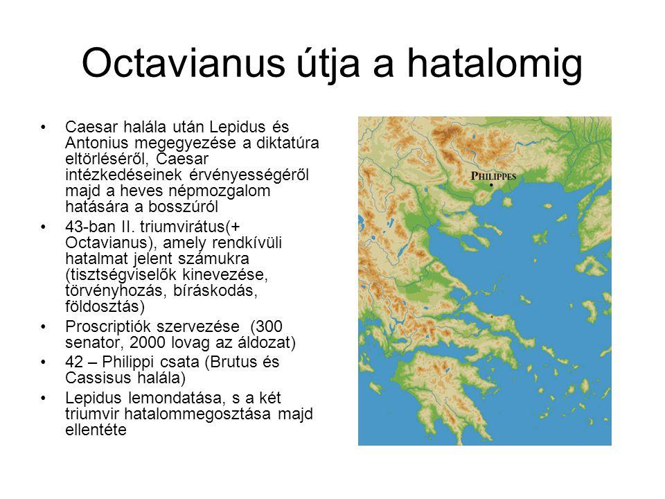 Octavianus útja a hatalomig