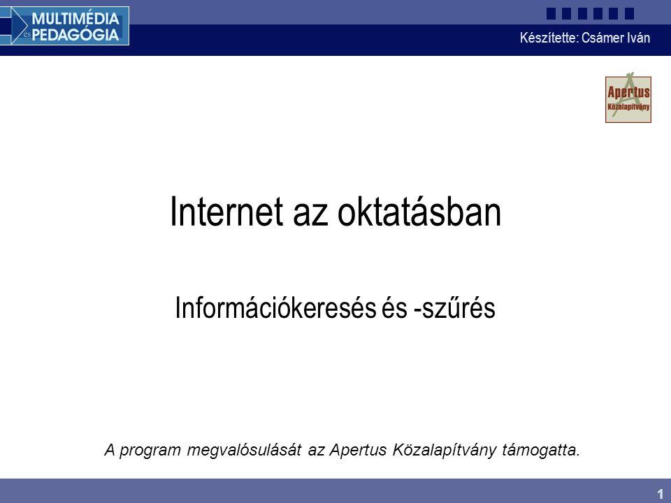 Internet az oktatásban