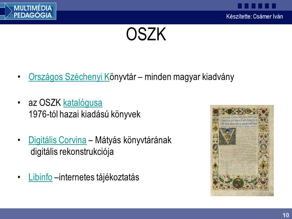 OSZK Országos Széchenyi Könyvtár – minden magyar kiadvány