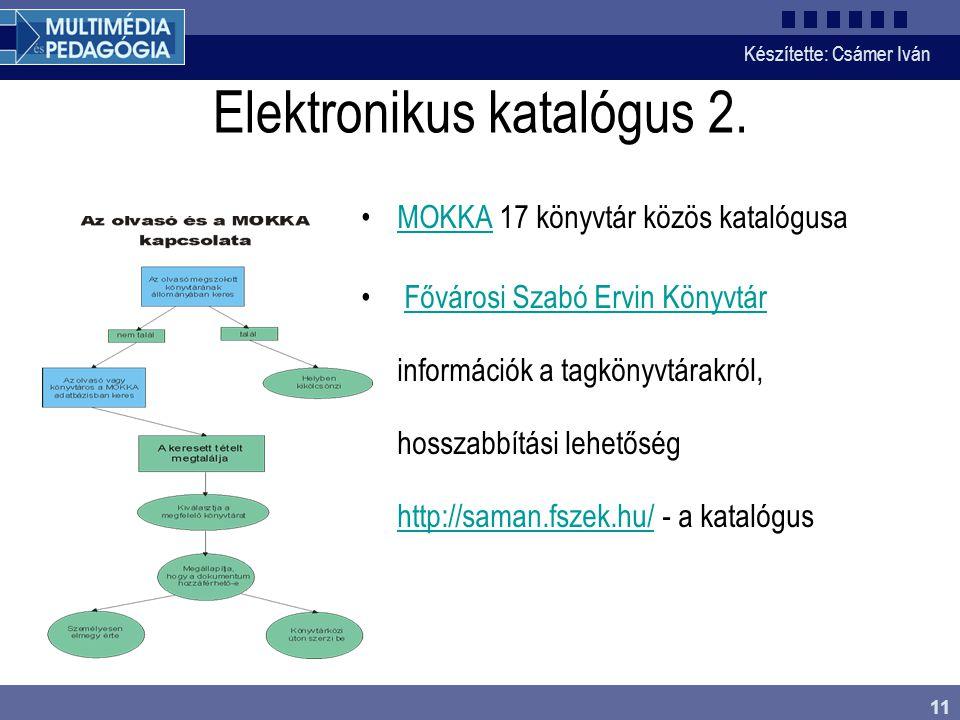 Elektronikus katalógus 2.