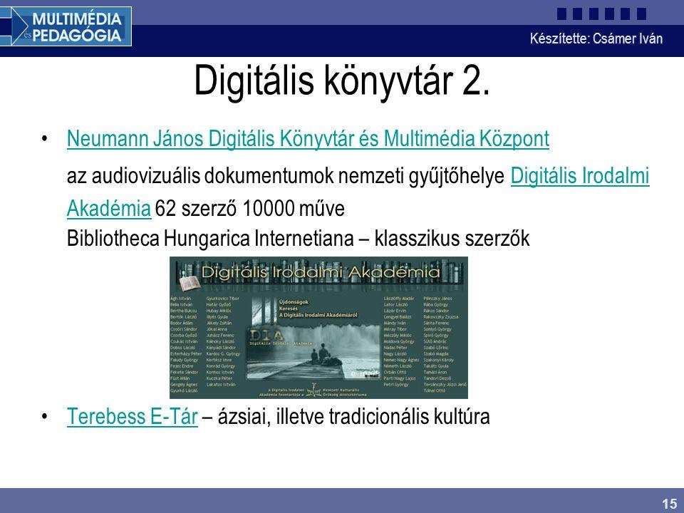Digitális könyvtár 2.