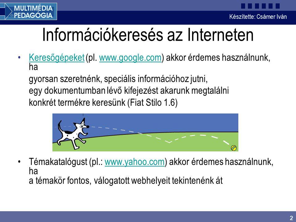Információkeresés az Interneten