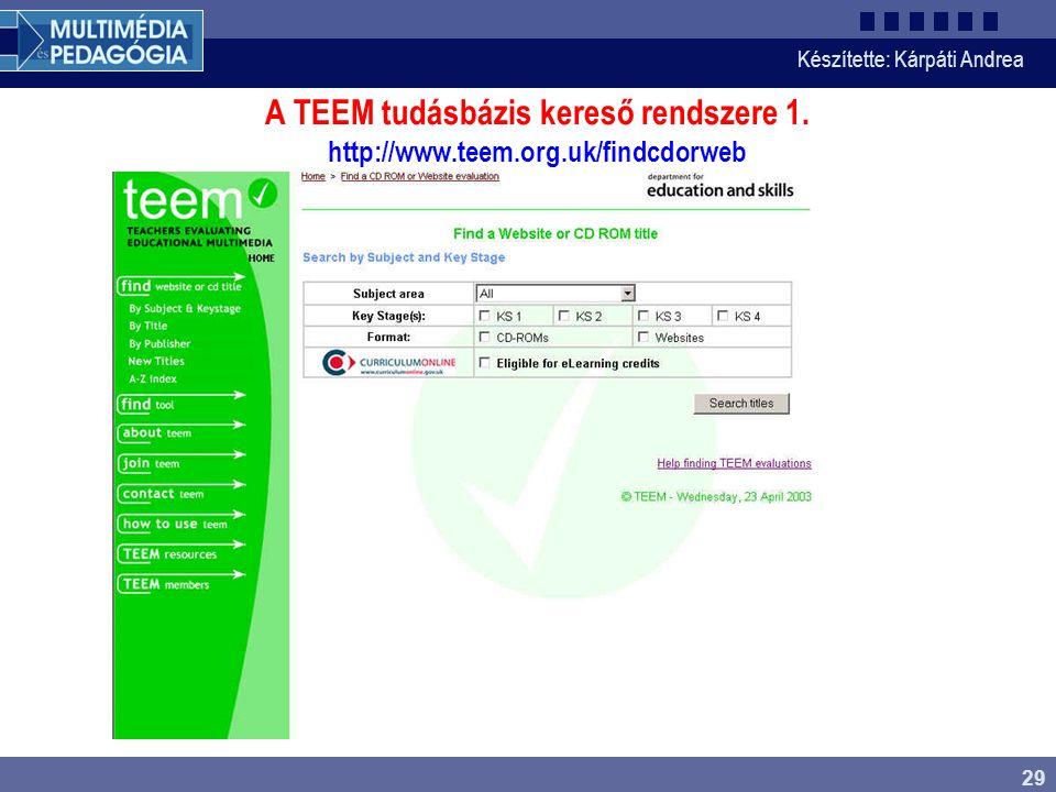 A TEEM tudásbázis kereső rendszere 1. http://www. teem. org