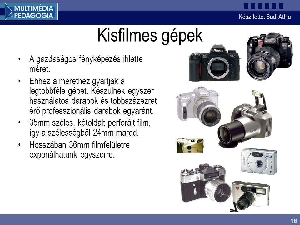 Kisfilmes gépek A gazdaságos fényképezés ihlette méret.