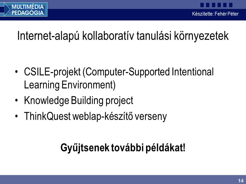 Internet-alapú kollaboratív tanulási környezetek