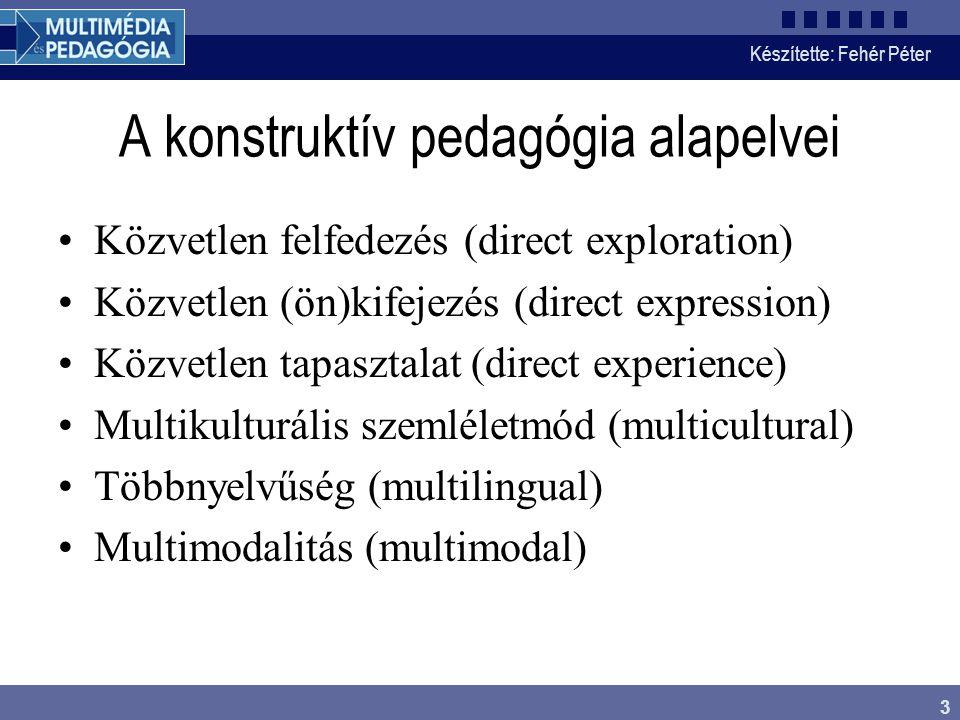 A konstruktív pedagógia alapelvei