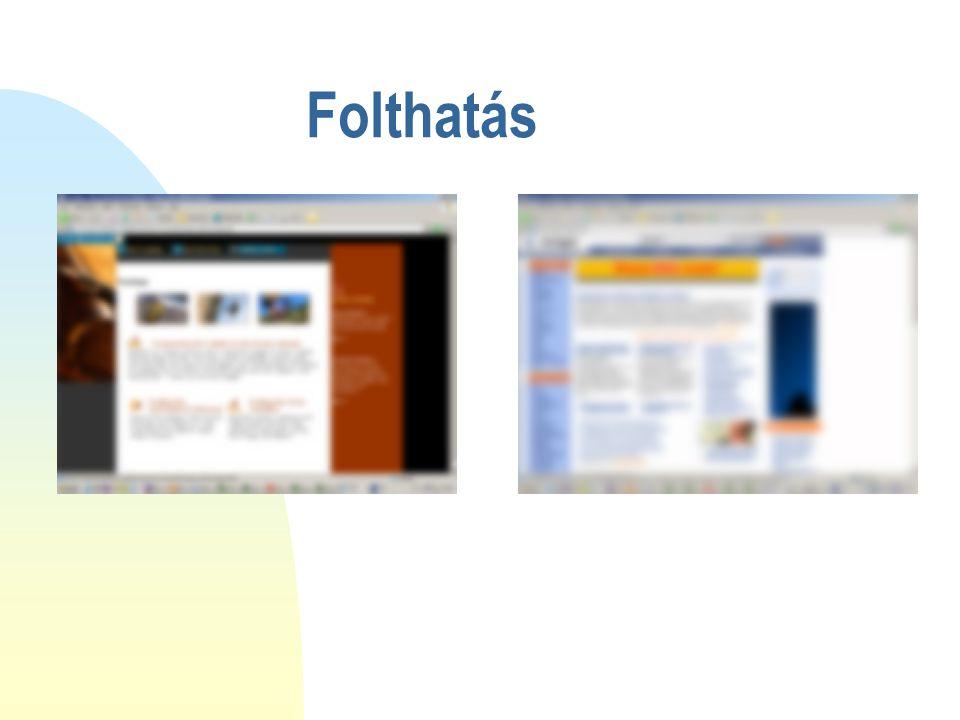 2017.04.05. Folthatás. Az előbbiek szemléltetésére nézzük két weboldal elhomályosított képét. Melyek a legfontosabbnak tűnő területek