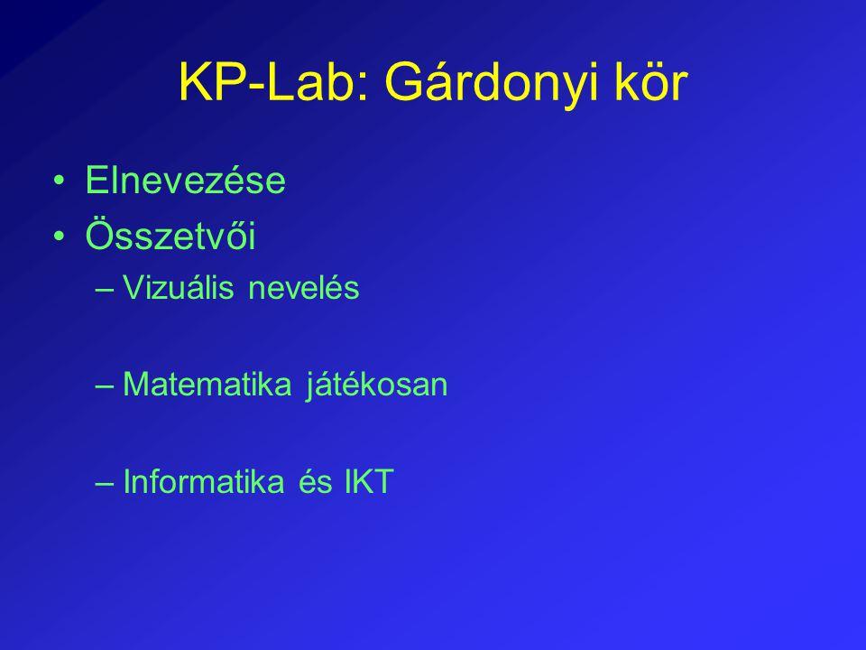 KP-Lab: Gárdonyi kör Elnevezése Összetvői Vizuális nevelés