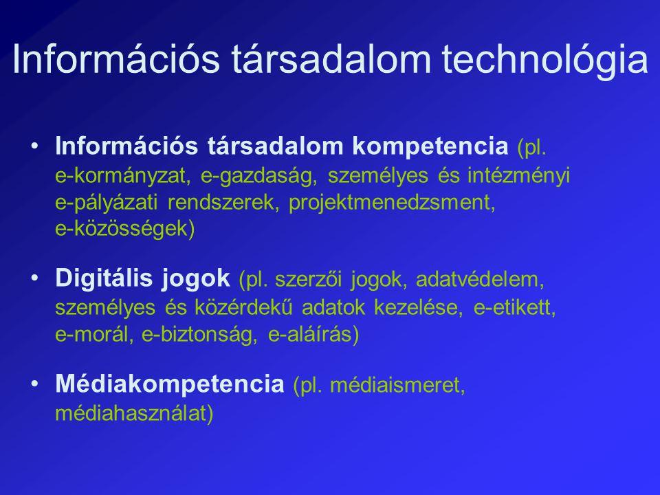 Információs társadalom technológia