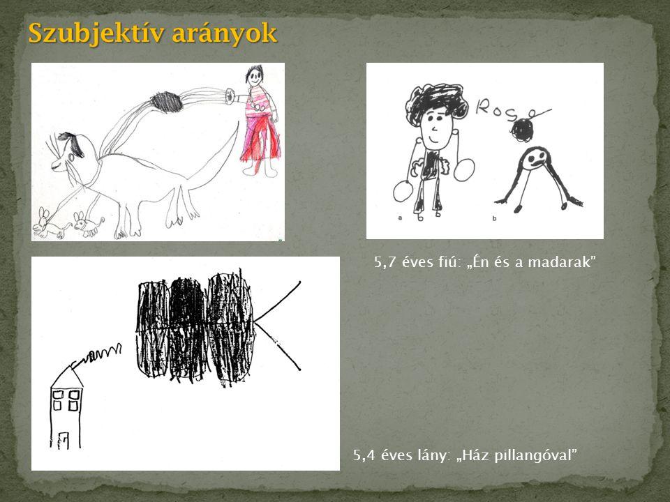 """Szubjektív arányok 5,7 éves fiú: """"Én és a madarak"""
