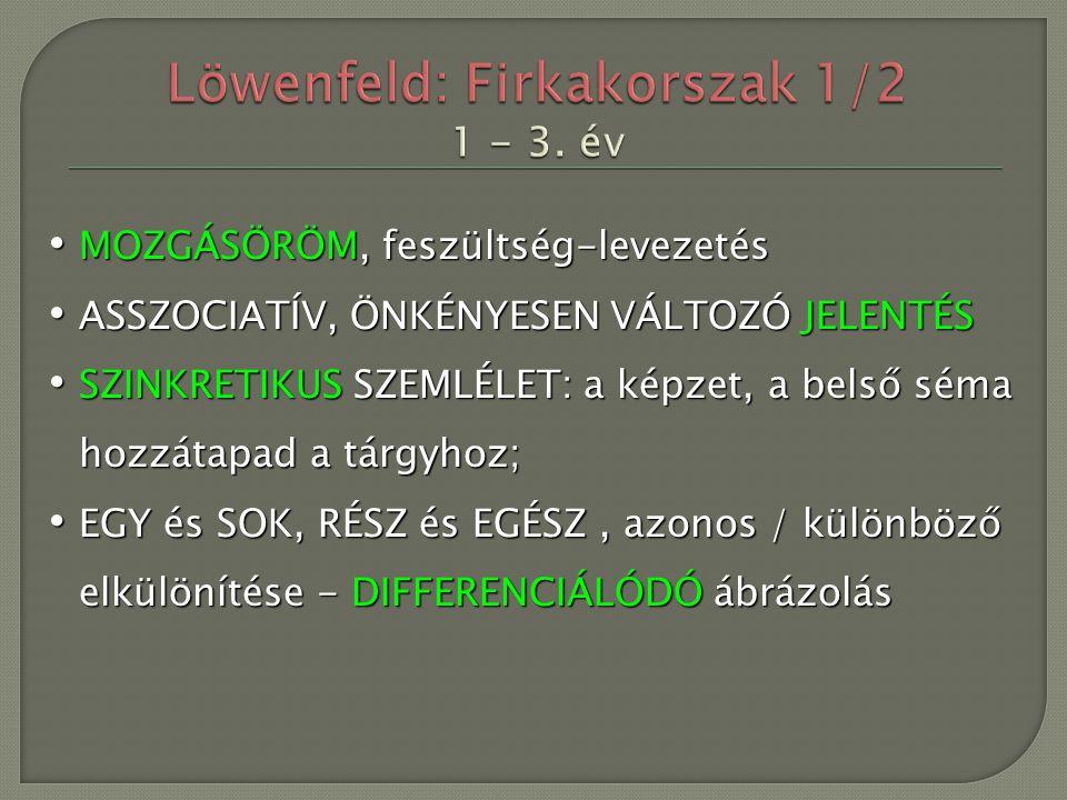 Löwenfeld: Firkakorszak 1/2 1 - 3. év