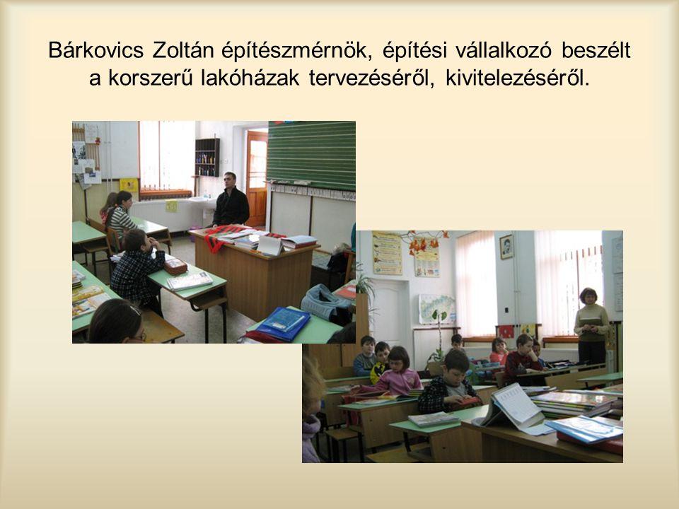 Bárkovics Zoltán építészmérnök, építési vállalkozó beszélt a korszerű lakóházak tervezéséről, kivitelezéséről.