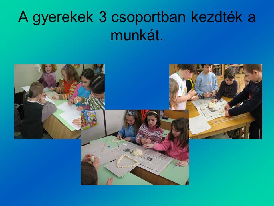A gyerekek 3 csoportban kezdték a munkát.