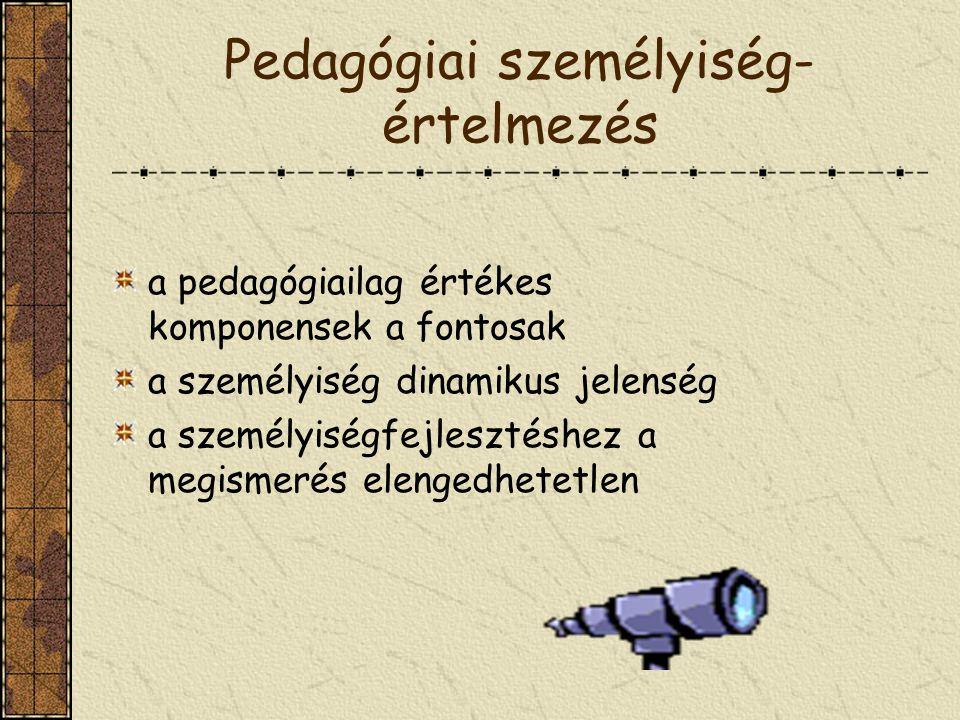 Pedagógiai személyiség-értelmezés