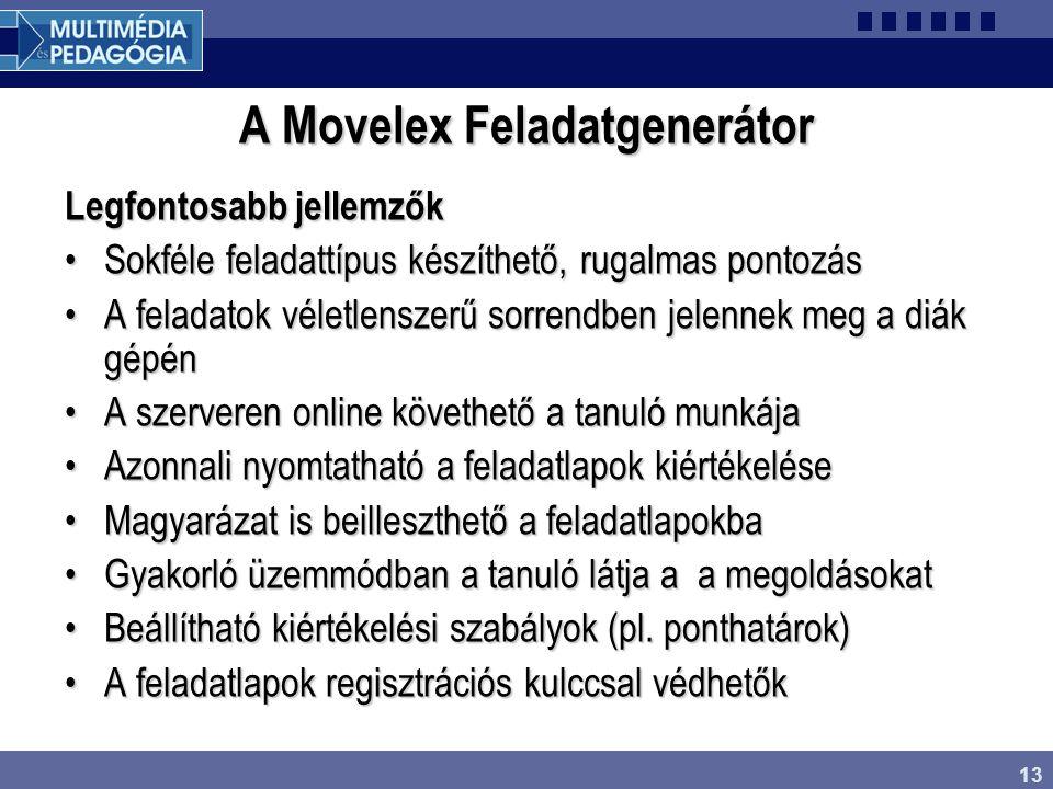 A Movelex Feladatgenerátor