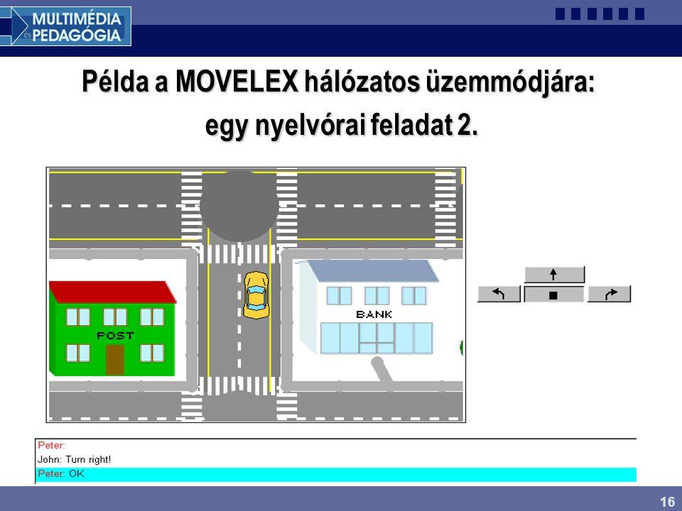 Példa a MOVELEX hálózatos üzemmódjára: egy nyelvórai feladat 2.
