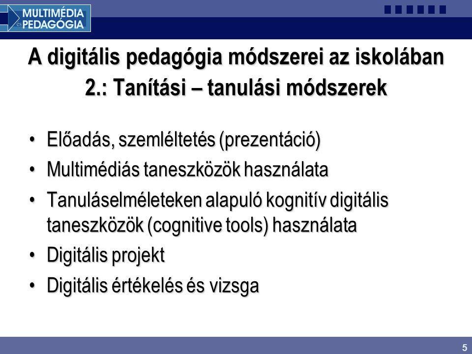A digitális pedagógia módszerei az iskolában 2
