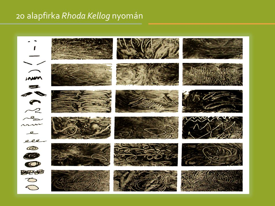 20 alapfirka Rhoda Kellog nyomán