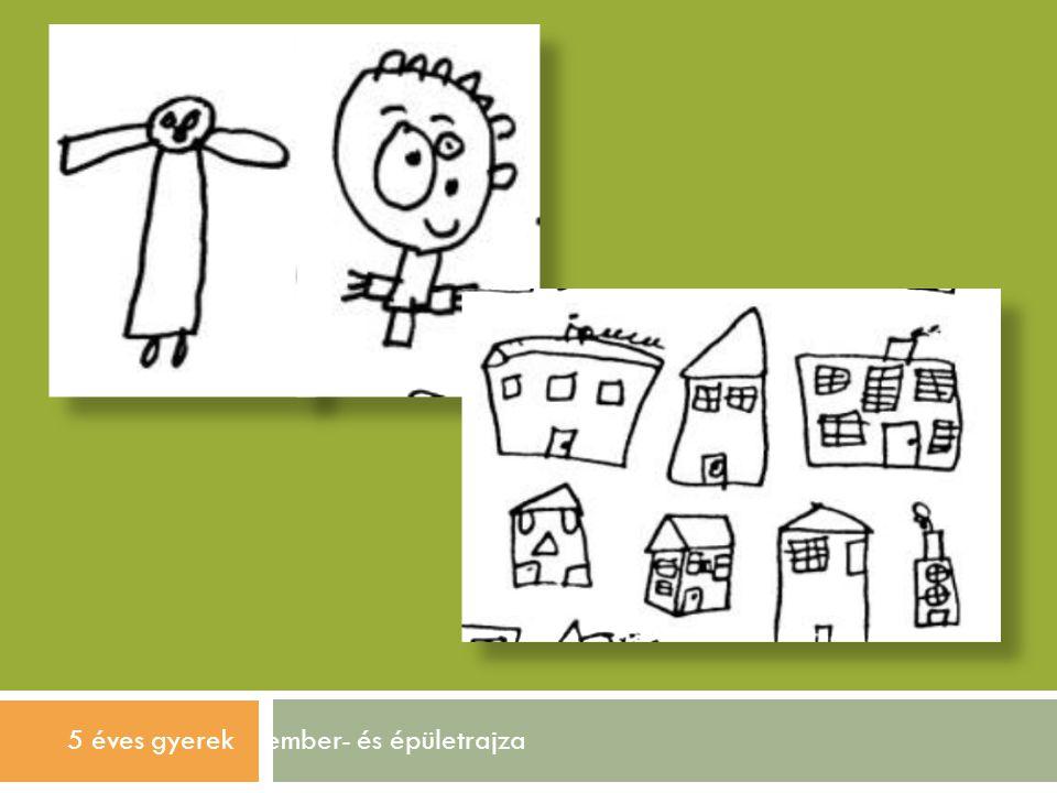 5 éves gyerek ember- és épületrajza