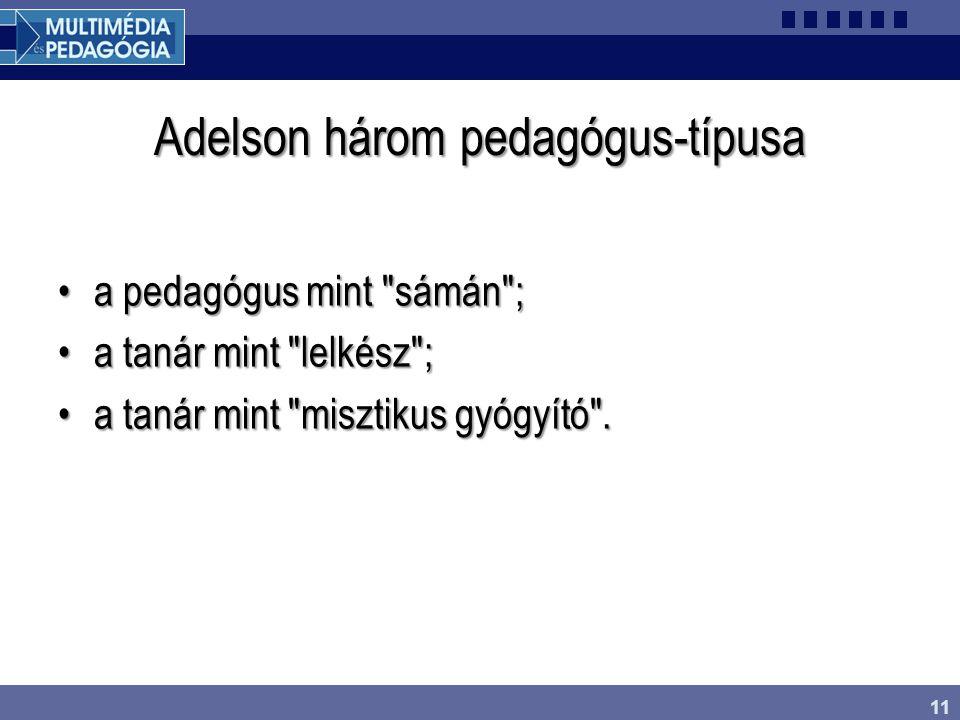 Adelson három pedagógus-típusa