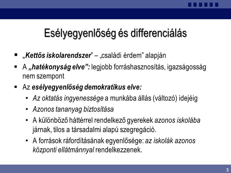 Esélyegyenlőség és differenciálás