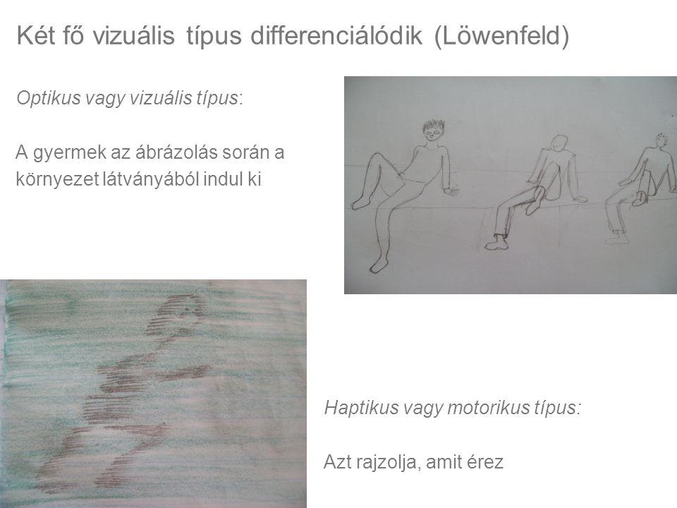 Két fő vizuális típus differenciálódik (Löwenfeld)
