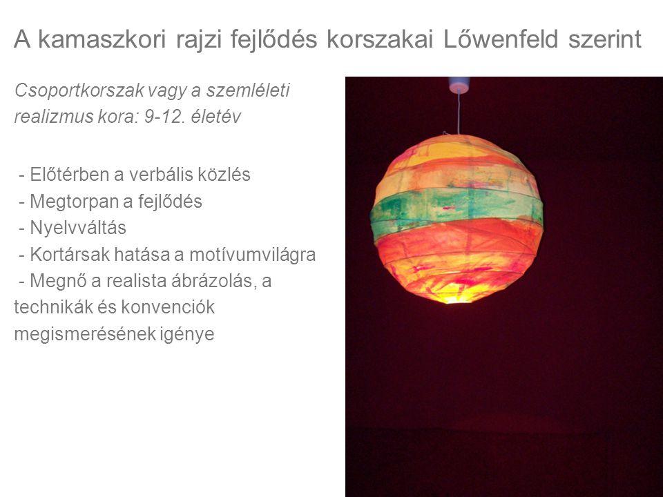 A kamaszkori rajzi fejlődés korszakai Lőwenfeld szerint