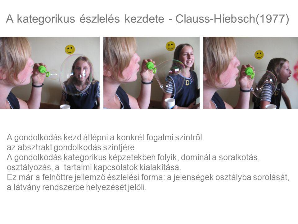 A kategorikus észlelés kezdete - Clauss-Hiebsch(1977)