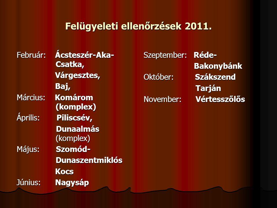 Felügyeleti ellenőrzések 2011.