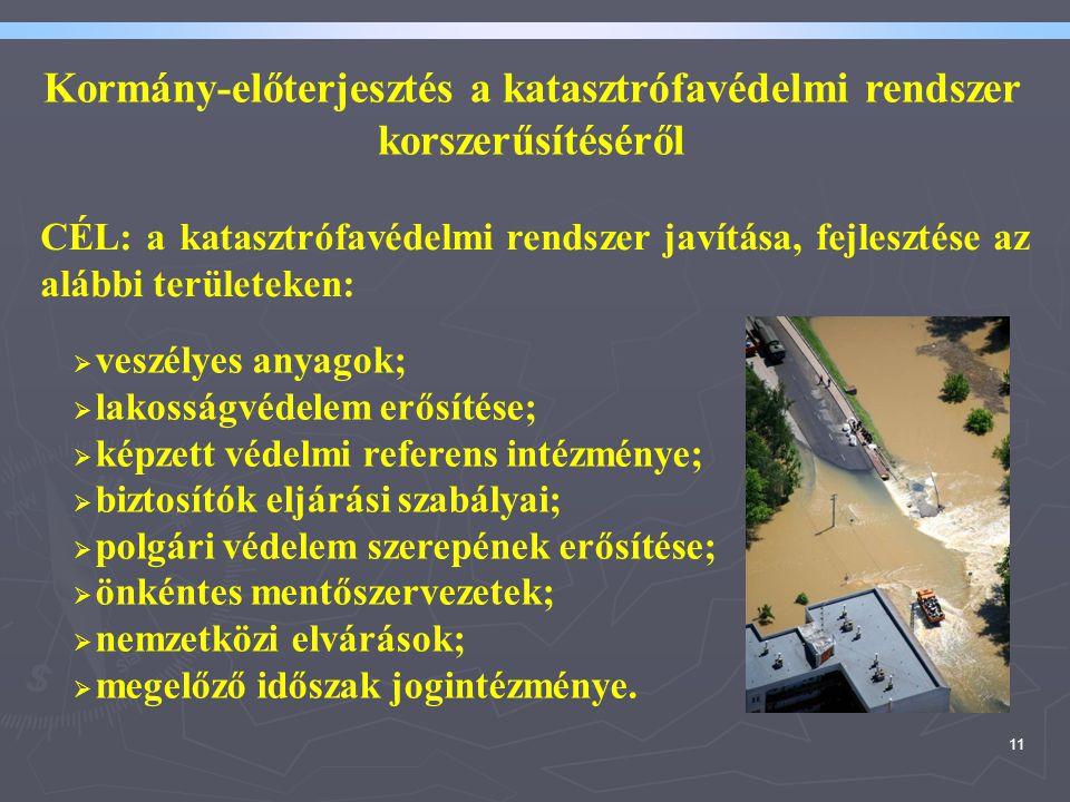 Kormány-előterjesztés a katasztrófavédelmi rendszer korszerűsítéséről