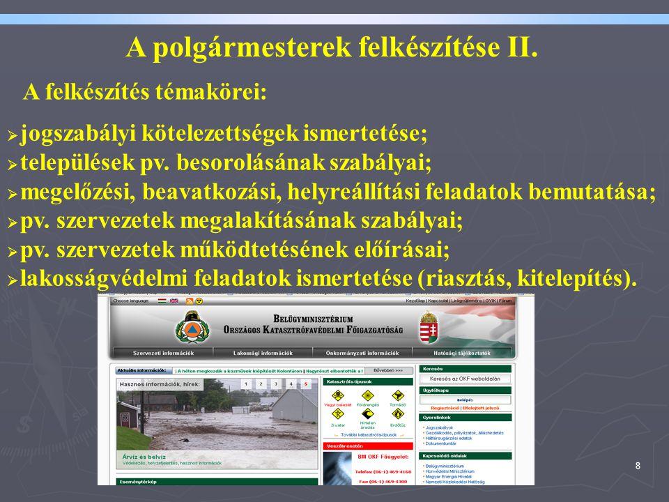 A polgármesterek felkészítése II.