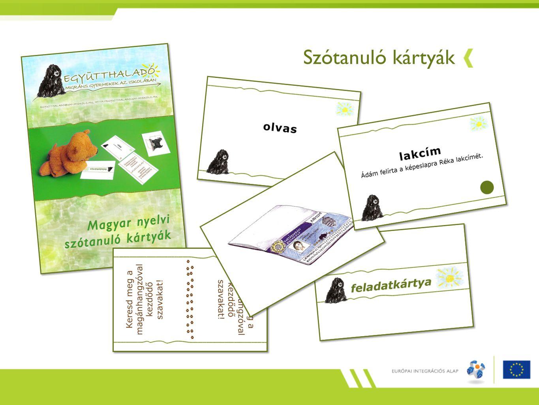 Szótanuló kártyák