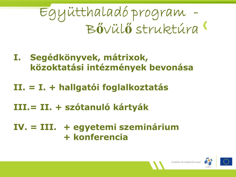 Együtthaladó program - Bővülő struktúra