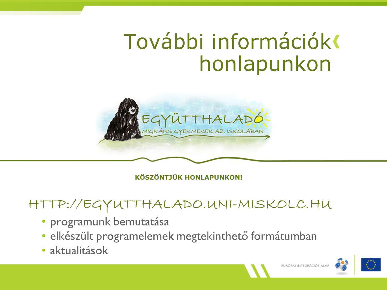 További információk honlapunkon