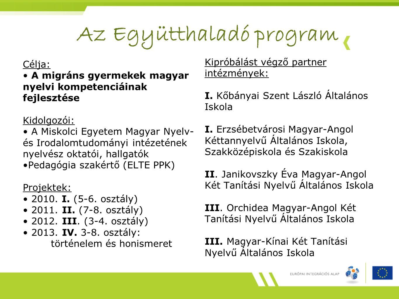 Az Együtthaladó program