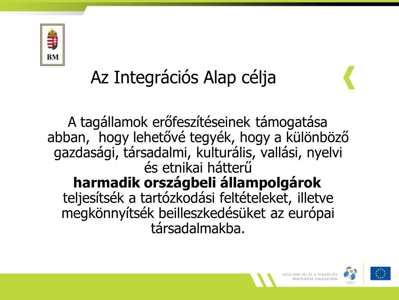 Az Integrációs Alap célja