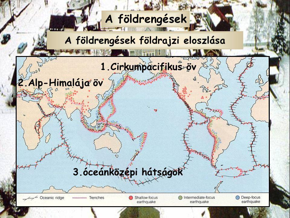A földrengések földrajzi eloszlása