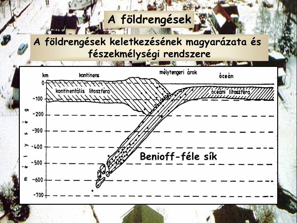 A földrengések keletkezésének magyarázata és fészekmélységi rendszere