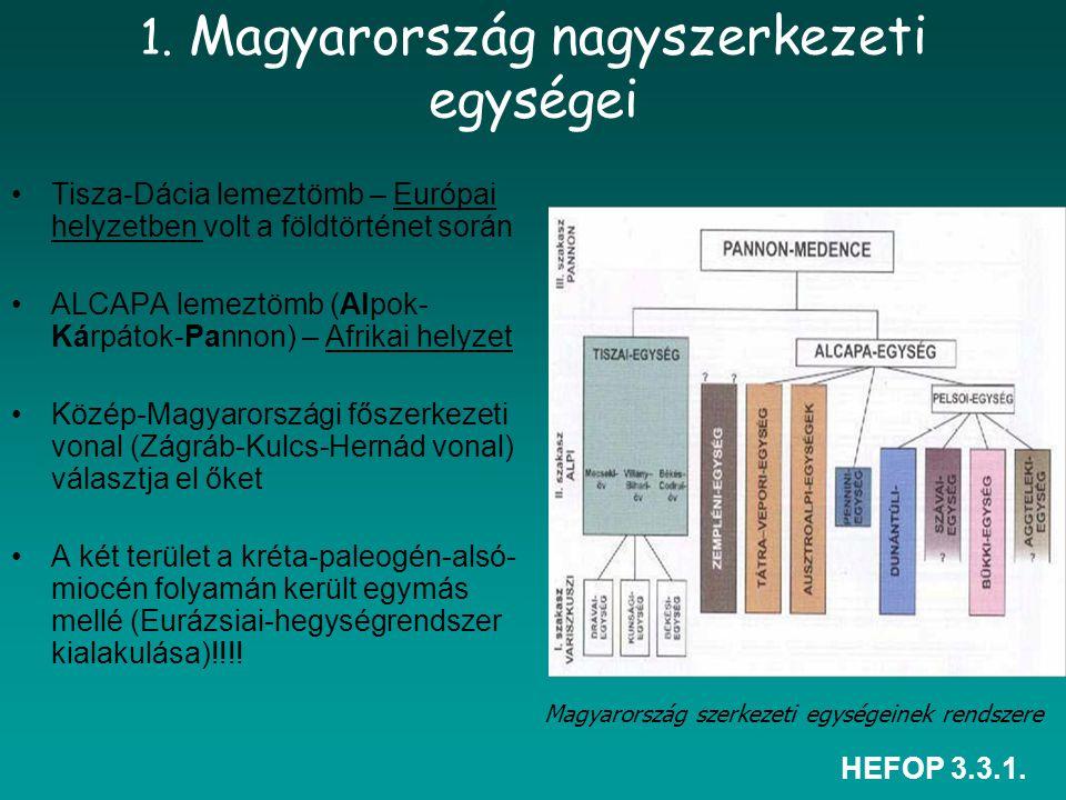 1. Magyarország nagyszerkezeti egységei