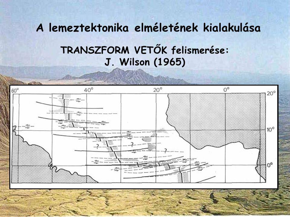 TRANSZFORM VETŐK felismerése: J. Wilson (1965)
