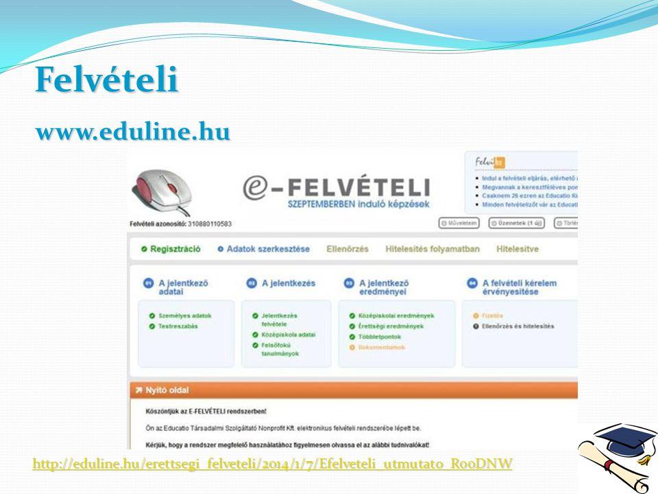 Felvételi www.eduline.hu