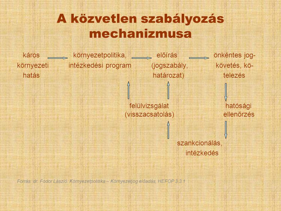 A közvetlen szabályozás mechanizmusa