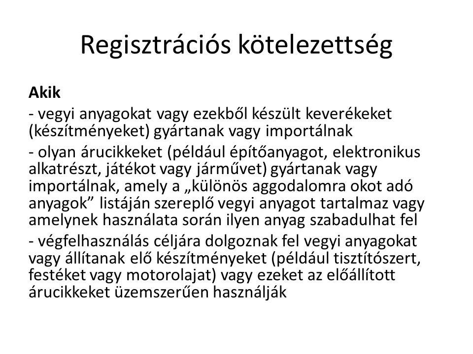 Regisztrációs kötelezettség